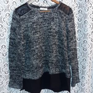 Calvin Klein Black and Gray Sweater